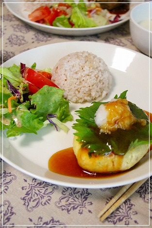 豆腐ハンバーグランチプレート
