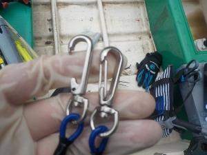 DSCN1914 シマノのワイヤー入りロープ初日で壊れた