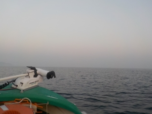 DSCN2033 朝もやの漂う中出航