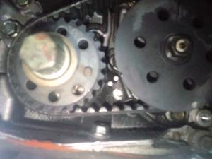 H81W EKワゴン タイベル クランク・オイルポンプ合いマーク