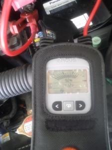 MRワゴン オルタ交換後 充電電圧