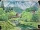 白馬村の風景画