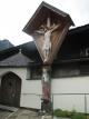 教会の庭の十字架