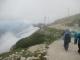展望台に近づいたら霧が晴れてきた