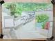 紙の裏に描き直した茂田井宿の絵