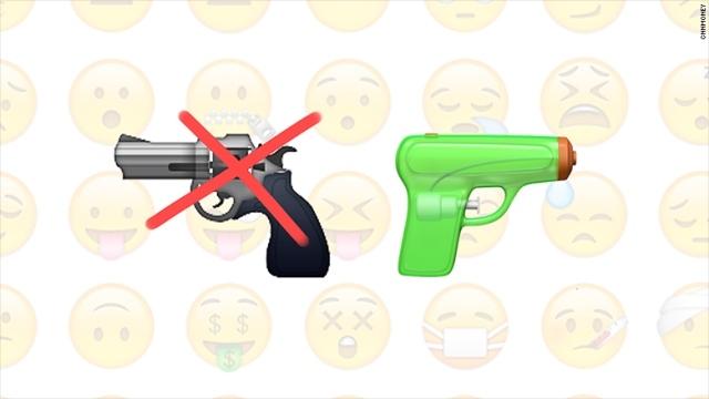 銃火器犯罪への配慮!?iOS 10ではピストルの絵文字を水鉄砲に