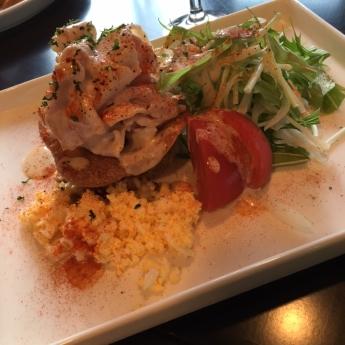 豚しゃぶとクスクスのミルフィユ風サラダ