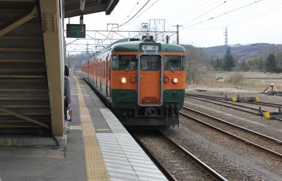 ⑤安中駅115系