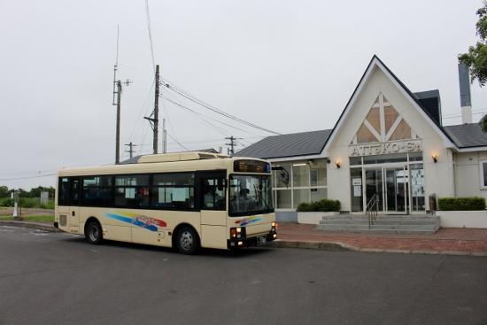 ⑰今の厚床駅と代行バス