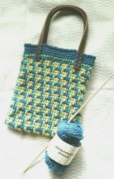 アフガン編みのバッグ