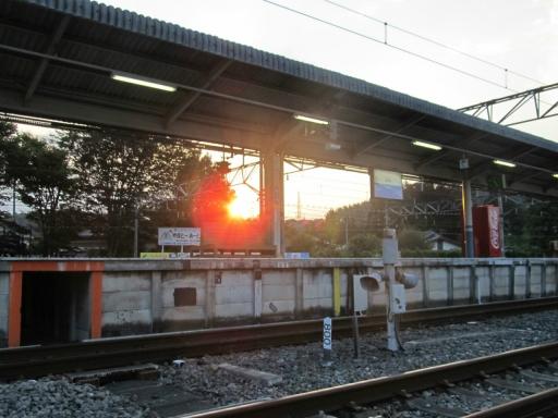 20161011・鉄写2位・20111011・夕陽の横瀬駅