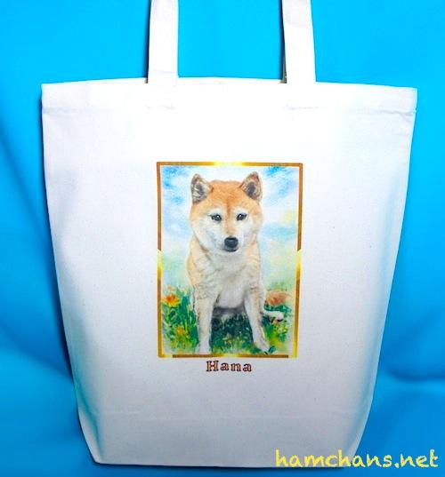 ペットのイラストトートバッグ