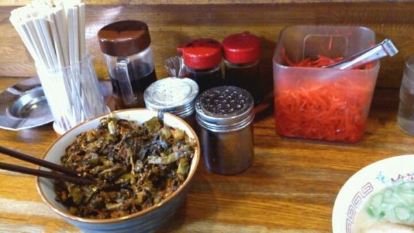 高菜と紅生姜
