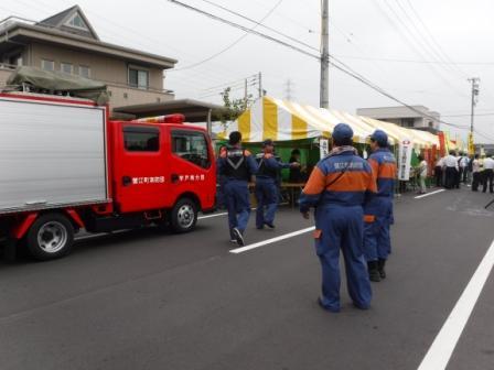 1町民まつり消防団警備