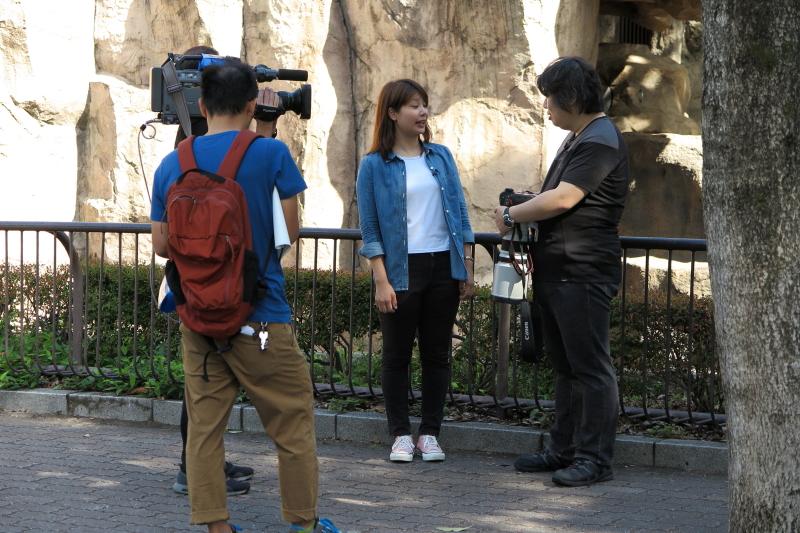 テレビ愛媛さんの「とべとべZOO」ロケーション撮影がありました。