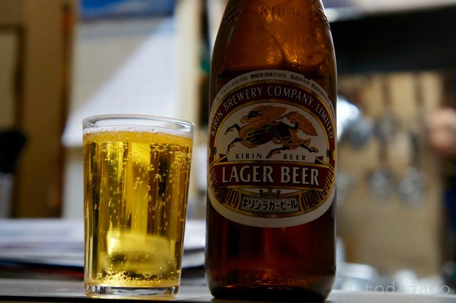 瓶ビールはキリンラガー