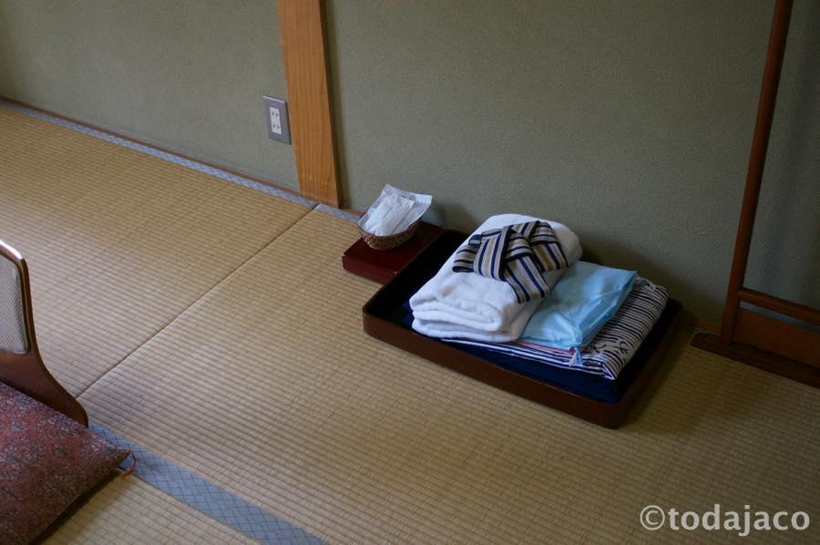 浴衣とタオルなど