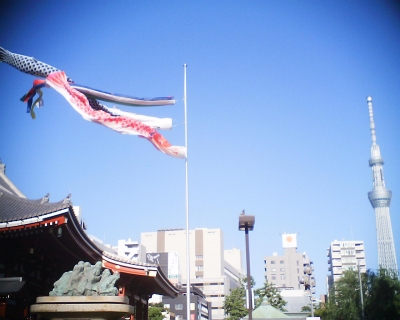 東京スカイツリーと鯉のぼり・浅草寺:R2