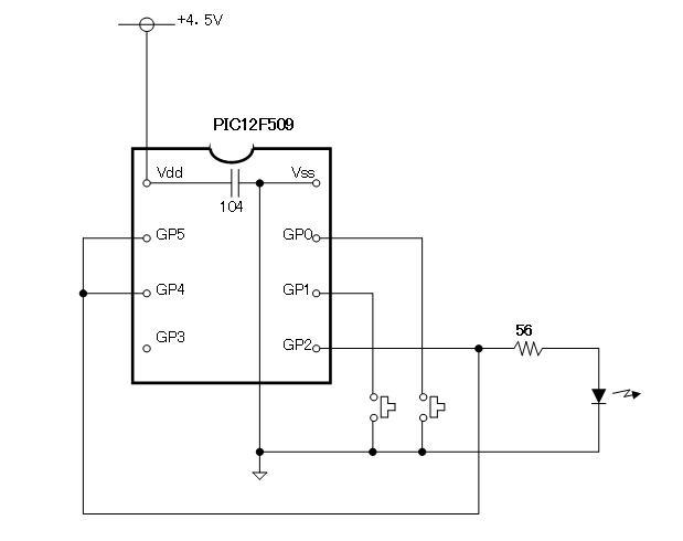 100均プラレールの赤外線リモコン化簡易送信機回路図