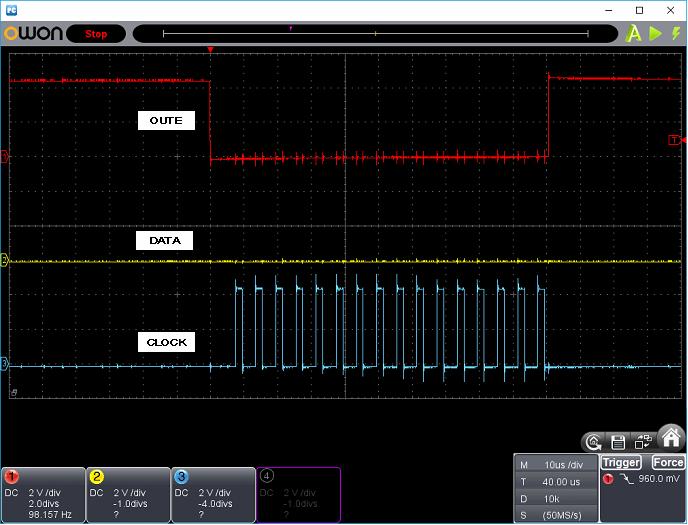 タッチレジスター(センサーマイコン換装)ホストI/F波形1