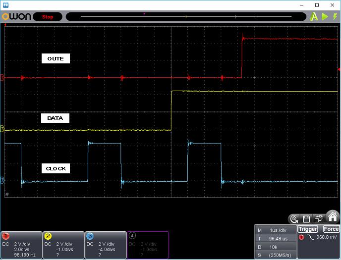 タッチレジスター(センサーマイコン換装)ホストI/F波形5