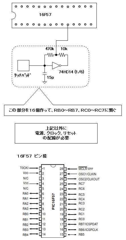 PICでタッチSW回路図57