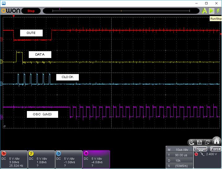 PICでタッチSW74AC14発振波形タッチ時