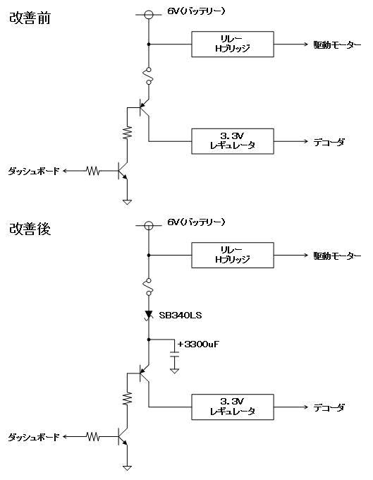 RASTAR乗用自動車ラジコン(電源・デコーダ不良)回路1