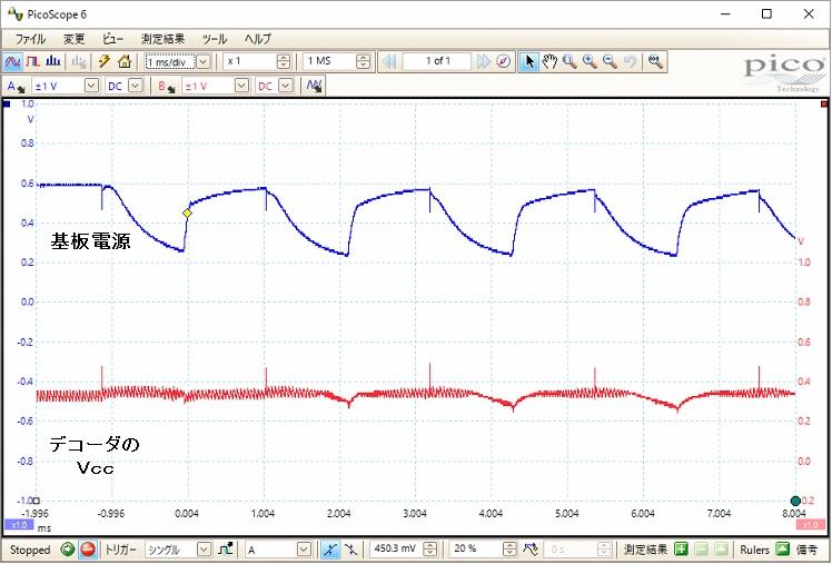 RASTAR乗用自動車ラジコン(電源・デコーダ不良)波形2