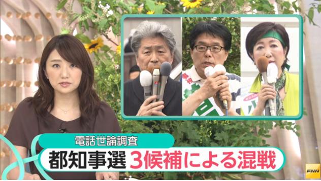 2016東京都知事選 3候補