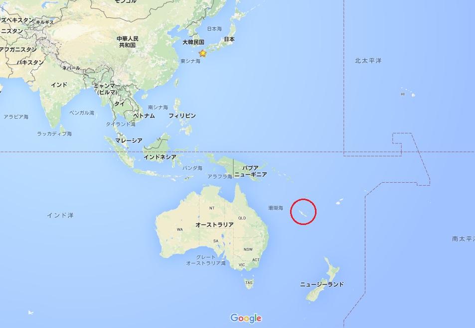 ニューカレドニア地図1