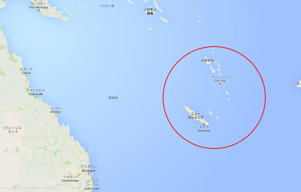 ニューカレドニア地図2