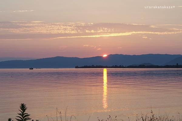 琵琶湖 夕日