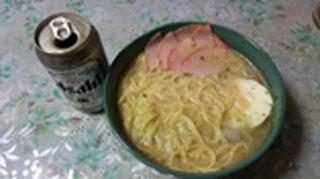 ビールとラーメン
