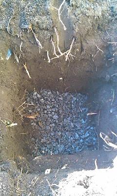 砂利を詰めてゴンゴン
