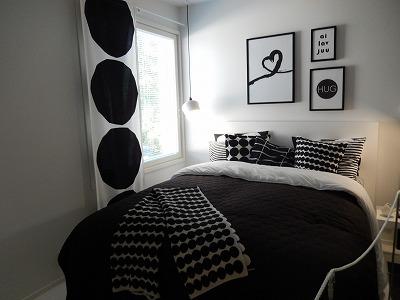 マリメッコ寝室