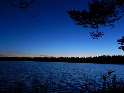 湖と木のシルエット2