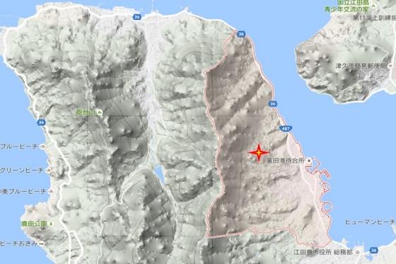 能美町高田グーグル地図A 岩風呂神社