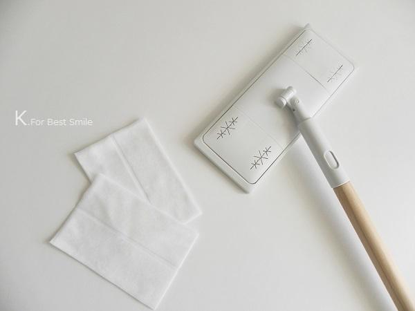 03>無印良品のフローリングモップシートの簡単収納アイデア