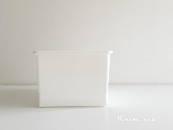 03>セリアの新商品【白いフタ付きボックス】