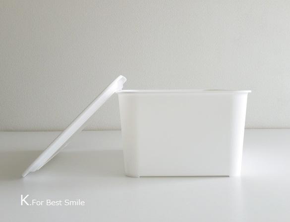 04>セリアの新商品【白いフタ付きボックス】