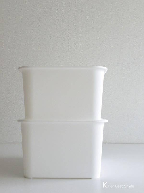 06>セリアの新商品【白いフタ付きボックス】