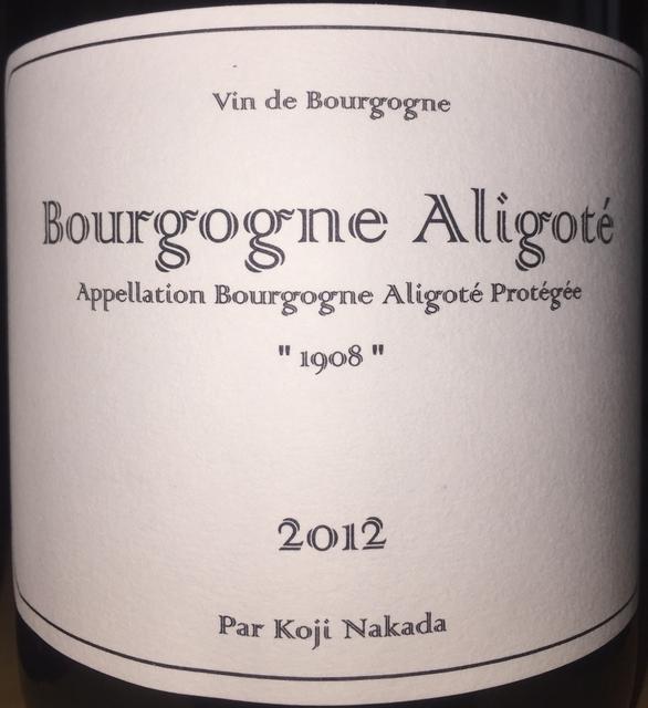 Bourgogne Aligote Koji Nakada 2012
