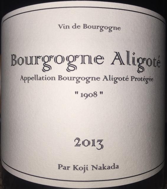 Bourgogne Aligote Koji Nakada 2013