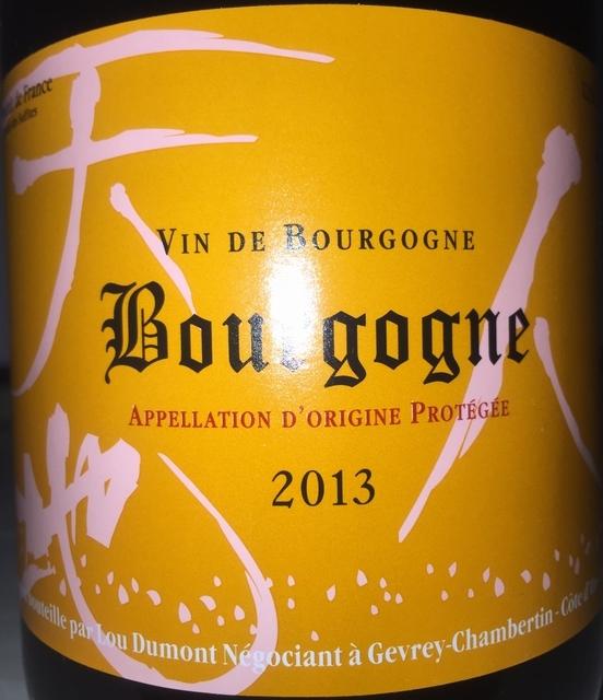 Bourgogne Lou Dumont 2013