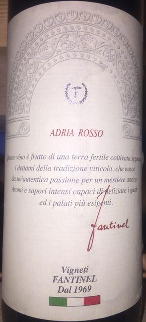 Adria Rosso Vigneti Fantinel Vino Rosso