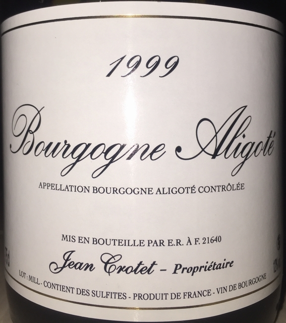 Bourgogne Aligote Jean Crotet 1999