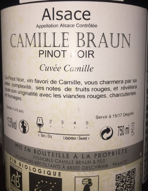 Pinot Noir Camille Braun 2012 part2