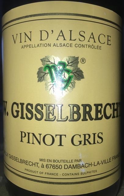 Pinot Gris Willy Gisselbrecht 2012