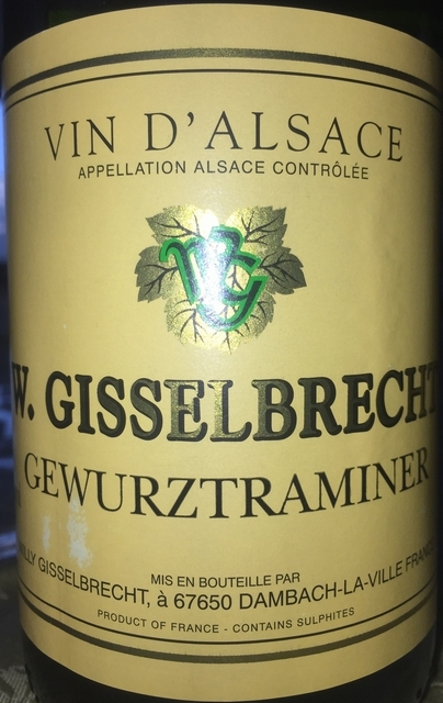 Gewurztraminer Willy Gisselbrecht 2012